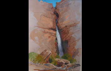 """Deer Creek Falls Morning"""